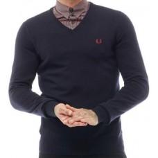 Fred Perry jemný pletený svetr NAVY