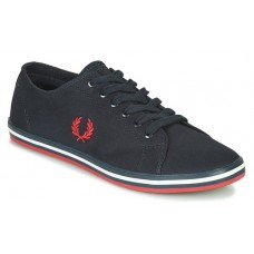 Fred Perry Mens Kingston Twill Canvas Pumps Black