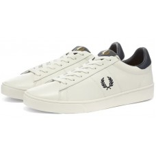 Fred Perry Mens Spencer Leather Trainers Porcelain