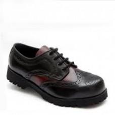 Boty Boots & Braces Budapester Black / Burgundy