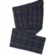 Trousers Relco London Tartan Navy Grey