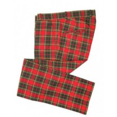 Kalhoty Relco London Tartan Red Green