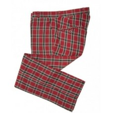 Trousers Relco London Tartan Burgundy