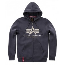 Alpha Industries BLUE zip hoodie