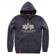 Alpha Industries BLUE zip hoodie