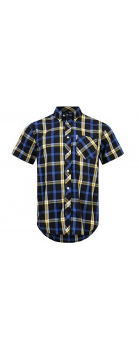 Brutus Shirt  Black Blue Yellow
