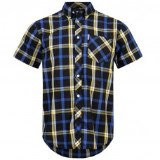 Brutus Shirt  Black Blue Yellow