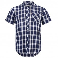 Brutus Shirt  Navy White