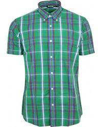 Relco London shirt  Green Tartan Check