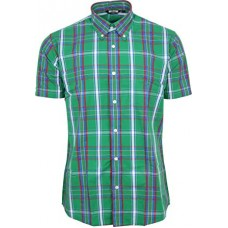 Relco London shirt  Green Tartan Check