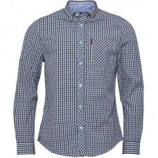 long sleeve Shirt  Ben Sherman button down Blue  White  Navy