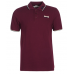 Men's Slim Fit Polo Shirt Lonsdale Lion OXBLOOD