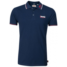 Men's Slim Fit Polo Shirt Lonsdale Lion Navy/Dark Red