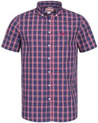 shirt Lonsdale BRIXWORTH Red/White/Dark Blue