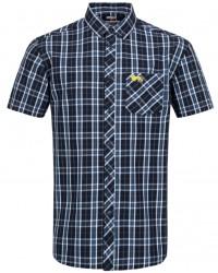 shirt Lonsdale KABER Navy/Ecru/Yellow