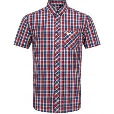 shirt Lonsdale KABER Red/Navy/Ecru