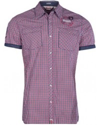 shirt Lonsdale  REIGATE  Navy/Red/White