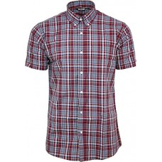 shirt Relco burgundy blue