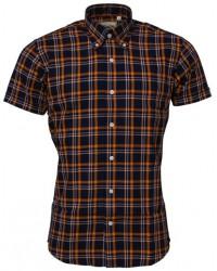 Relco London shirt Navy & Orange