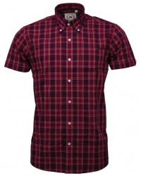 shirt Relco London Burgundy Red