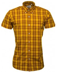 shirt Relco London  Mustard Check