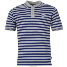 Men's Slim Fit Polo Shirt Lonsdale blue stripe