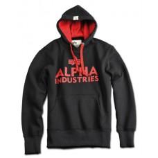 hoodie Alpha Industries BLACK / Red