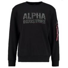 mikina Alpha Industries Black CAMO