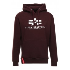 mikina Alpha Industries Classic Hoodie Burgundy