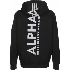 hoodie Alpha Industries BLACK / White