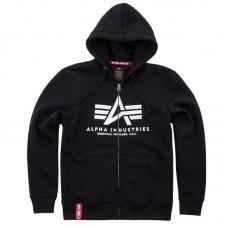 zip hoodie Alpha Industries BLACK