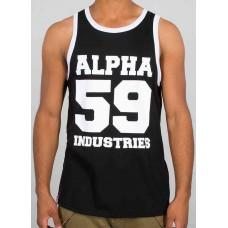 Alpha Industries BLACK Undershirt  59  Tanktop
