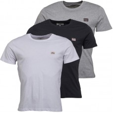 tričko Ben Sherman  3ks v balení   Black/White/Grey Marl