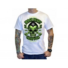 T-shirt Blackheart - CREEPSTER white