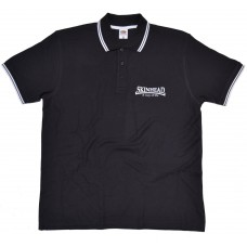 Poloshirt Skinhead a way of life  black / white lining