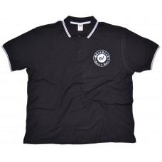 Poloshirt Skinhead Oi!  Rock'n'Roll  black / white lining