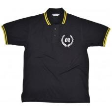 Poloshirt Skinheads Oi!  black / yellow lining