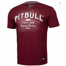 T-shirt Pitbull  since 1989 Original Hardcore Wear   Cherry Red