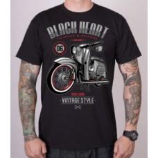 T-shirt Blackheart -  Vintage Style  Black