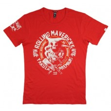 T-shirt Yakuza Premium Rolling Mavericks  RED