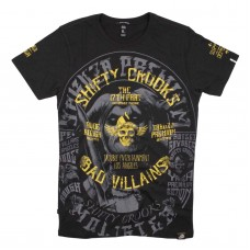 T-shirt Yakuza   Shifty Crooks  Bad Villains  Black