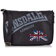 Lonsdale RECORD Bag VINTAGE Shoulder Bag-Black